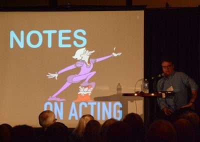 Jay Johnson lecturing on Acting for Ventriloquists
