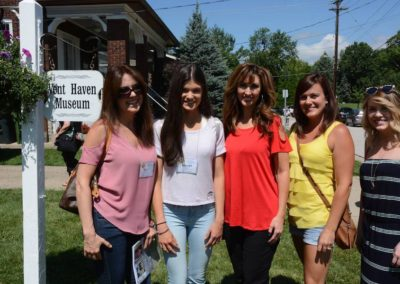 Kelly Guy, Bailey Guy, Kimberly Miller and friends at Vent Haven Museum