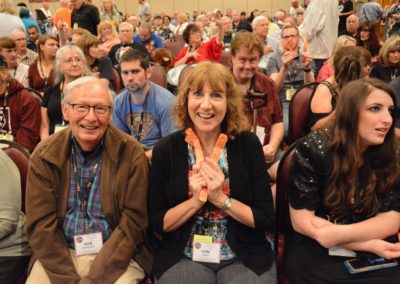 Bob Hedleston and Lori Adkins ready for the Raffle
