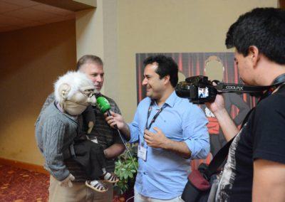 Dan Horn getting interviewed by Warley Santana of Brazil