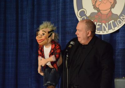 Darren Carr's puppet wanted to wear the mask