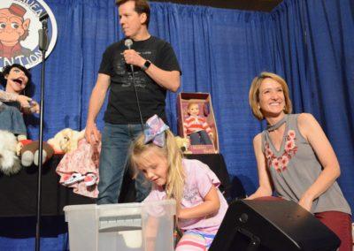 Jeff Dunham, Constance Conaughty, and Lisa Sweasy picking Raffle winners