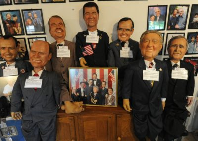 Jim Teter's presidents at Vent Haven Museum