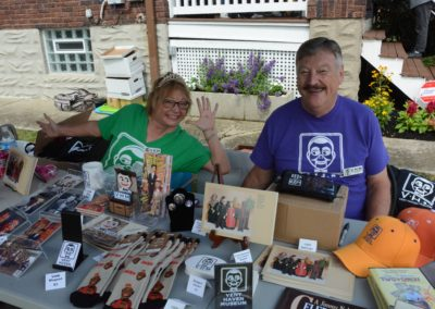 Leslie and Dale Brown working the premiums table