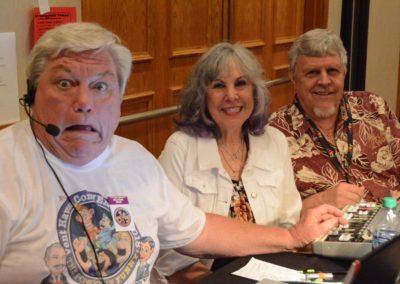 Mark Truman, Virginia Petersen, and Wally Petersen...the sound crew!