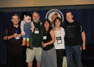 Mark Wade, Raffle winner John Byrd, Melissa Taylor, Mary Ann Taylor, and Jeff Dunham