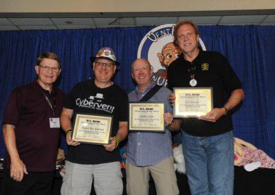 Mark Wade and Distinguised Award Winners Daniel Jay Robison, David Crone, and Lee Cornell