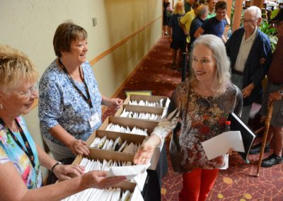 Pre-Registration packet pick up with Ruby Groves and Marilyn Pakarkalis