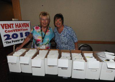 Registration Ladies Marilyn Pakarkalis and Ruby Groves