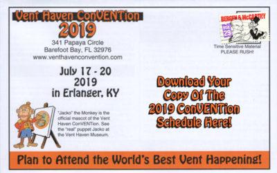 2019 ConVENTion Schedule
